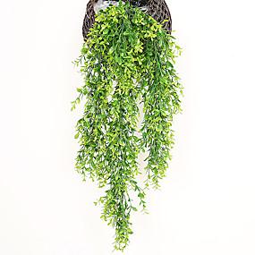 رخيصةأون أزهار اصطناعية-3 قطعة محاكاة وهمية زهرة الروطان السقف الأخضر كرمة هندسة الديكور الروطان أعلى مجلس الوزراء غرفة المعيشة غرفة الطعام الديكور زهرة النبات الأخضر