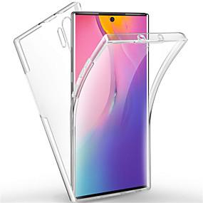 billige Galaxy Note 8 Etuier / Covere-Etui Til Samsung Galaxy Note 9 / Note 8 / Galaxy Note 10 Støtsikker / Gjennomsiktig Heldekkende etui Ensfarget TPU / PC