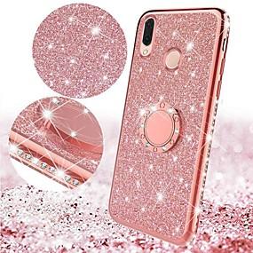 cheap Huawei-Case For Huawei Huawei P Smart 2019 / Huawei P Smart Plus 2019 / Huawei Mate 20 lite with Stand / Plating / Ring Holder Back Cover Glitter Shine TPU