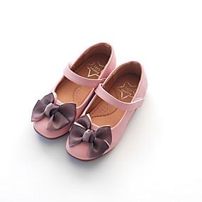olcso Napi akciók-Lány Kényelmes PU Lapos Nagy gyerekek (7 év +) Csokor Bézs / Piros / Rózsaszín Nyár