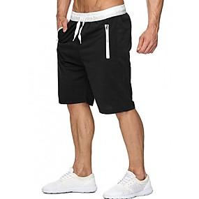 voordelige Herenbroeken-Heren Sportief Shorts Broek - Print Donkergrijs Grijs Paars US34 / UK34 / EU42 US36 / UK36 / EU44 US38 / UK38 / EU46