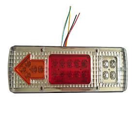 Недорогие Задние фонари-Задний светодиодный задний водонепроницаемый свет стоп стоп задний стоп-сигнал указатель поворота для прицепа мотоцикла грузовик