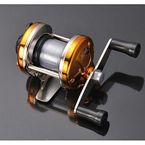 olcso Horgászorsók-รอกตกปลา Csalidobó orsók 2.1:1 Váltás arány+1 Golyós csapágy Jobbkezes Folyóvíz horgászat / Általános horgászat - Hand Wheel