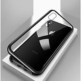 voordelige Galaxy S7 Hoesjes / covers-hoesje Voor Samsung Galaxy S7 edge / S7 Magnetisch Achterkant Effen Gehard glas