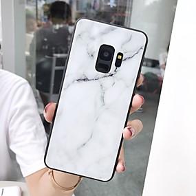 Недорогие Чехлы и кейсы для Galaxy Note 8-Кейс для Назначение SSamsung Galaxy S9 / S9 Plus / S8 Plus Зеркальная поверхность / Ультратонкий / С узором Кейс на заднюю панель Мрамор ТПУ