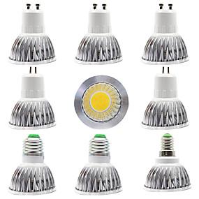 olcso LED szpotlámpák-9db 15 W LED szpotlámpák 300 lm E14 GU10 GU5.3 1 LED gyöngyök COB Tompítható Új design Meleg fehér Fehér 220-240 V 110-120 V