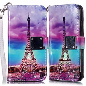 voordelige Galaxy S7 Hoesjes / covers-hoesje Voor Samsung Galaxy S9 / S9 Plus / S8 Plus Portemonnee / Kaarthouder / met standaard Volledig hoesje Landschap PU-nahka