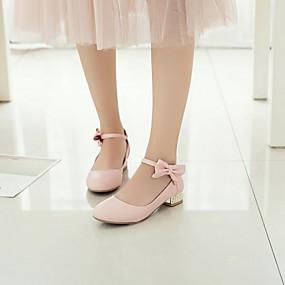 povoljno Dječje cipele-Djevojčice Obuća za male djeveruše PU Cipele na petu Mala djeca (4-7s) Obala / Crn / Pink Ljeto