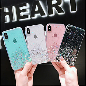voordelige iPhone 11 Pro Max hoesjes-hoesje voor apple iphone xs / iphone xr / iphone xs max / x / 6/7 / 6plus / 7plus doorschijnend / patroon achterkant transparant / sky pu leer