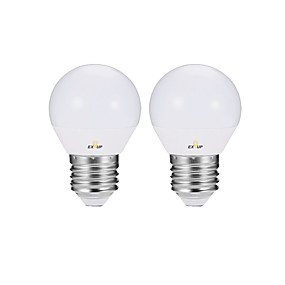 olcso LED gyertyaizzók-EXUP® 2pcs 4 W LED gömbbúrás izzók LED gyertyaizzók Izzószálas LED lámpák 360 lm E14 E26 / E27 P45 10 LED gyöngyök SMD 2835 Bájos Parti Dekoratív Meleg fehér Hideg fehér 220-240 V 110-120 V