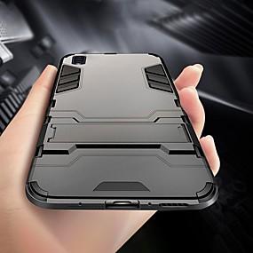 Недорогие Чехлы и кейсы для Galaxy Note 8-Кейс для Назначение SSamsung Galaxy S9 / S9 Plus / S8 Plus Защита от удара / со стендом Кейс на заднюю панель Однотонный ПК
