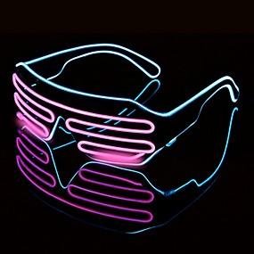 povoljno LED noćna rasvjeta-1pc vodio svjetla naočale Halloween šarene neonske božićne zabave bril flash staklene sunčane naočale