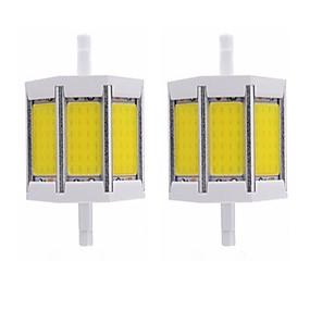 olcso LED fénycsövek-2pcs 10 W Fénycsövek 1000 lm R7S T 1 LED gyöngyök COB Új design Meleg fehér Fehér 85-265 V