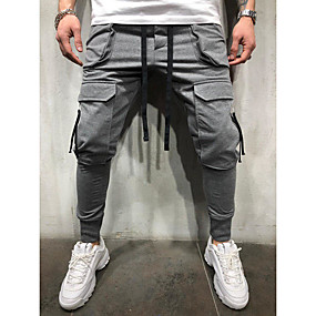 cheap Women's Clothing-Men's Basic Chinos Pants - Solid Colored Classic Black White Gray US32 / UK32 / EU40 US34 / UK34 / EU42 US36 / UK36 / EU44