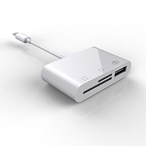 billige USB-hubs og kontakter-usb c til sd / tf-kort kamera læser type c til kamera hukommelseskortlæser tf micro sd-kort 3 i 1 usb otg adapter kompatibel med macbook pro macbook air / ipad pro 2018 samsung galaxy s10 / s9 / s8