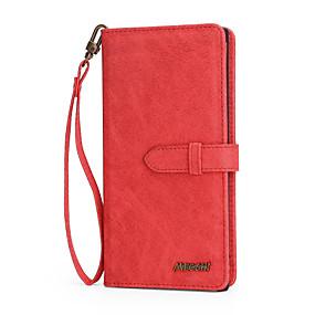 Недорогие Чехлы и кейсы для Galaxy Note 8-Кейс для Назначение SSamsung Galaxy Note 9 / Note 8 / Galaxy Note 10 Кошелек / Бумажник для карт / Флип Чехол Однотонный Кожа PU