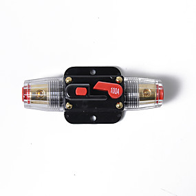 Недорогие Автоэлектроника-100-амперный линейный автоматический выключатель стерео / аудио / автомобильный / rv 100a / 100amp fuse 12v