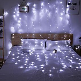 رخيصةأون أضواء شريط LED-3M أضواء سلسلة 300 المصابيح تراجع LED أبيض دافئ / أبيض / أزرق ضد الماء / حزب / ديكور 220-240 V 1PC / قابلة للربط / IP44