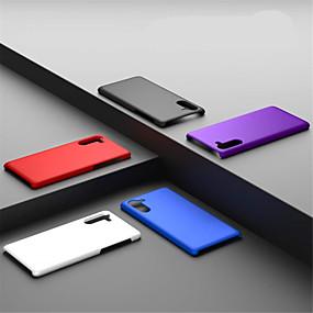 Недорогие Чехлы и кейсы для Galaxy Note 8-Кейс для Назначение SSamsung Galaxy Note 9 / Note 8 / Galaxy Note 10 Матовое Кейс на заднюю панель Однотонный ПК