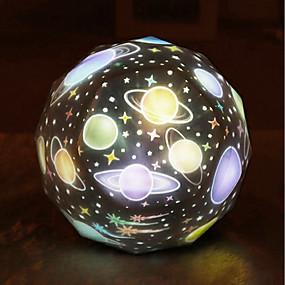 رخيصةأون مصابيح ليد مبتكرة-hkv 1 قطعة بقيادة الكواكب العارض الدورية ضوء الليل الإبداعية / عيد ميلاد / حزب rgb usb<= 36 فولت