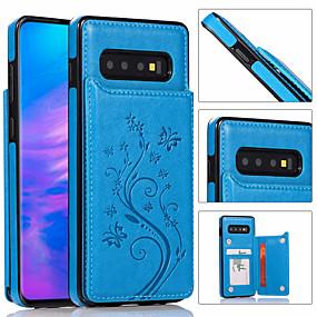 Недорогие Чехлы и кейсы для Galaxy Note 8-роскошный кожаный чехол для телефона для samsung galaxy s10 plus s10e s10 s9 plus s9 s8 plus s8 s7 edge s7 держатель бумажника для карт с тиснением цветочная сумка для телефона для galaxy note 10 plus