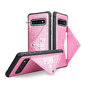 Недорогие Чехлы и кейсы для Galaxy Note 8-чехол для samsung galaxy s9 / s9 plus / s8 plus / s10plus / s10 / s10e / note9 8 кошелек / с подставкой / блеск задняя крышка слово / фраза / блеск блеск тпу