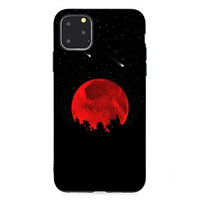 voordelige iPhone 11 Pro hoesjes-hoesje voor Apple iPhone 11 / iPhone 11 Pro / iPhone 11 Pro Max Ultradun / Mat / Patroon Achterkant Landschap TPU Soft