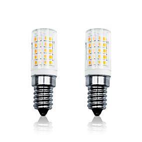povoljno LED klipaste žarulje-LOENDE 2pcs 6 W LED klipaste žarulje 700 lm E14 T 64 LED zrnca SMD 2835 Zatamnjen Toplo bijelo Bijela 110-130 V 200-240 V