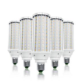 olcso LED kukorica izzók-loende 5 csomag 60w led kukorica lámpák 6000 lm e26 / e27 t 160 led gyöngyök smd 5730 meleg fehér fehér 85-265 v