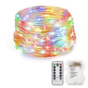 povoljno LED svjetla u traci-LOENDE 20m Žice sa svjetlima 200 LED diode Toplo bijelo / RGB / Bijela Vodootporno / Kreativan / Party Baterije su pogonjene