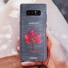 voordelige Galaxy S7 Hoesjes / covers-hoesje Voor Samsung Galaxy S8 Plus / S8 / S7 edge Stofbestendig / Doorzichtig / Patroon Achterkant Bloem TPU