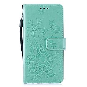 Недорогие Чехлы и кейсы для Huawei Honor-Кейс для Назначение Huawei Huawei Nova 3i / Huawei P20 lite / Huawei P30 Кошелек / Бумажник для карт / Защита от удара Чехол Бабочка / Однотонный Кожа PU / P10 Lite
