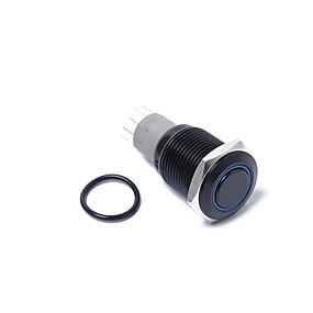 Недорогие Автоэлектроника-16 мм 12 В с защелкой кнопка питания черный металл синий светодиодный водонепроницаемый переключатель