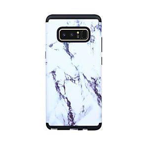 Недорогие Чехлы и кейсы для Galaxy Note 8-Кейс для Назначение SSamsung Galaxy Note 8 Защита от удара Кейс на заднюю панель Полосы / волосы / Мрамор ПК