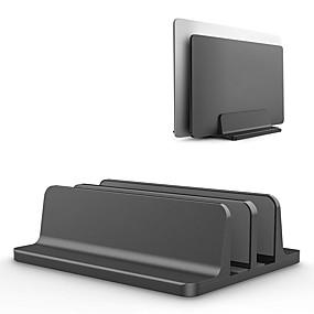 رخيصةأون أجهزة يو اس بي-حامل الكمبيوتر المحمول العمودي حامل حامل سطح المكتب مزدوج مع رصيف قابل للتعديل (تصل إلى 17.3 بوصة)