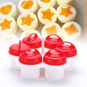 ieftine Ustensile Bucătărie & Gadget-uri-Solid silicon din corp Ustensile Ou Bucătărie Gadget creativ Instrumente pentru ustensile de bucătărie pentru ou 6pcs