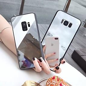 Недорогие Чехлы и кейсы для Galaxy Note 8-Кейс для Назначение SSamsung Galaxy S9 / S9 Plus / S8 Plus Зеркальная поверхность / Ультратонкий / С узором Кейс на заднюю панель Однотонный ТПУ