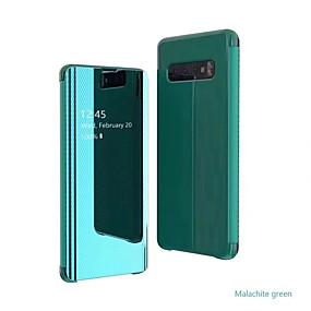 voordelige Galaxy S7 Hoesjes / covers-hoesje voor samsung galaxy s9 / s9 plus / s8 plus / s10plus / s10 / note9 / 8 / a8plus 2018 / a6 2018 met standaard / spiegel / flip full body hoesjes effen gekleurd / lijnen / golven pc