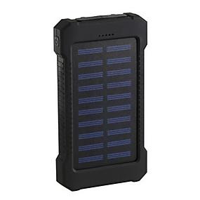 olcso 7500 - 10000 mAh-2019 napenergia bank 10000mah dupla usb napelemes töltő külső akkumulátor hordozható töltő bateria externa csomag okostelefonhoz