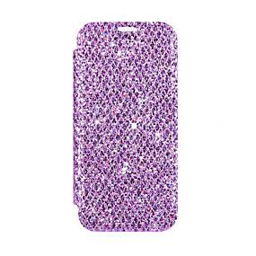 Недорогие Чехлы и кейсы для Galaxy Note 8-чехол для samsung galaxy s9 / s9 plus / s8 plus держатель карты / магнитный / блестящий блеск для всего тела сплошной цвет / блестящий блеск искусственная кожа / тпу