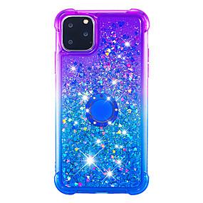 voordelige iPhone 11 Pro Max hoesjes-hoesje Voor Apple iPhone 11 / iPhone 11 Pro / iPhone 11 Pro Max Schokbestendig / Stofbestendig / Strass Achterkant Glitterglans / Kleurgradatie TPU