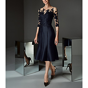 cheap Party Dresses-Women's Asymmetrical Daily Prom Lace Up Elegant Sleeveless A Line Sheath Dress - Floral Lace Ruffle Off Shoulder Lace Black M L XL XXL / Plus Size
