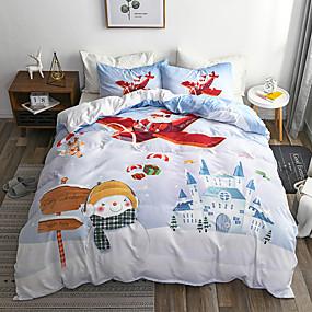 olcso Lakástextil-feleségül kell venni a karácsonyi ágyneműt Mikulás ajándék nyomtatott 3d lapon párnahuzat és paplanhuzat szett piros ágynemű ágynemű