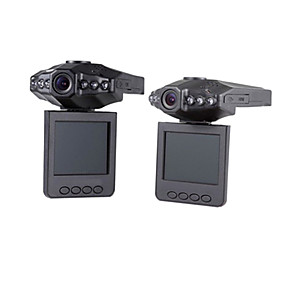 voordelige Auto DVR's-720p auto dvr 120 graden groothoek 3,0 mega cmos 2,4 inch dashcam met bewegingsdetectie 6 infrarood leds autorecorder