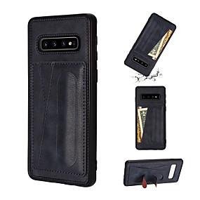 Недорогие Чехлы и кейсы для Galaxy Note 8-Кейс для Назначение SSamsung Galaxy Note 9 / Note 8 / Galaxy Note 10 Бумажник для карт / со стендом Кейс на заднюю панель Однотонный Кожа PU