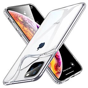 olcso Napi akciók-Case Kompatibilitás Apple iPhone 11 / iPhone 11 Pro / iPhone 11 Pro Max Ütésálló / Vízálló / Átlátszó Fekete tok Átlátszó TPU