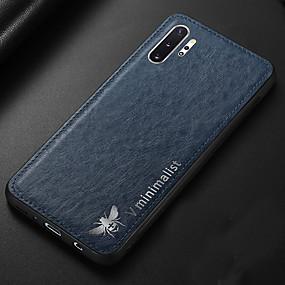 Недорогие Чехлы и кейсы для Galaxy Note 8-Кейс для Назначение SSamsung Galaxy Note 9 / Note 8 / Galaxy Note 10 Ультратонкий Кейс на заднюю панель Однотонный Кожа PU / ТПУ