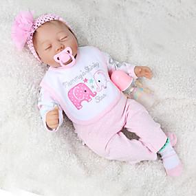 povoljno Igračke i razonoda-NPK DOLL Autentične bebe Nova djevojačka lutka Za muške bebe Za ženske bebe 22 inch Dar Slatko Dječjom Uniseks Igračke za kućne ljubimce Poklon / Djeca
