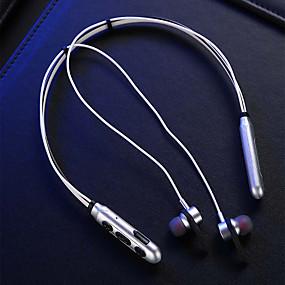 رخيصةأون سماعات الرياضة-LITBest M9 سماعة رأس حول الرقبة لاسلكي السفر والترفيه بلوتوث 5.0 ستيريو السائقين المزدوجة مع ميكريفون