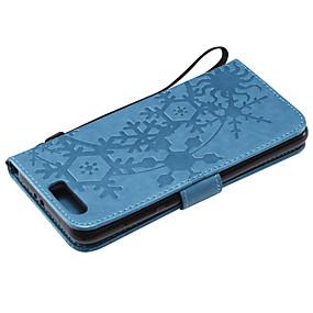 voordelige Huawei Honor hoesjes / covers-hoesje Voor Huawei Honor 9 / Honor 8 / Honor 7C(Enjoy 8) Kaarthouder Volledig hoesje Geometrisch patroon PU-nahka / PC